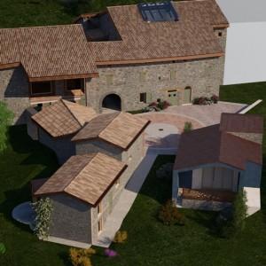 Restauro di corte storica, Vedriano di Canossa
